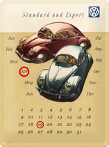 VW Beetle Duo Kalender