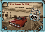 Route 66 Main Street altes Motiv