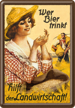 Wer Bier trinkt Fräulein