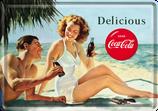 Coca Cola Paar am Strand