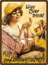 Wer Bier trinkt Bäuerin
