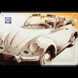 VW Käfer Cabrio weiß mit Dame