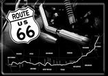 Route 66 Straße schwarz