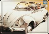 VW Käfer weiß Frau