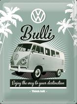 VW Bulli Unter Palmen
