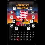Route 66 Kalender bunt
