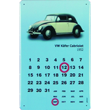 VW Käfer cabrio schwarz weiß Kalender
