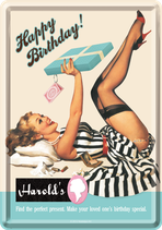 Pin Up Happy Birtsday Strapse