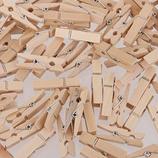 Kleine Holzklammern