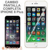 Cambiar Pantalla Completa Compatible iPHONE 8 Plus Blanco/Negro