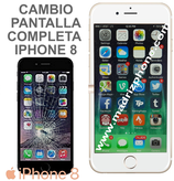 Cambiar Pantalla Completa Compatible iPHONE 8 Blanco/Negro