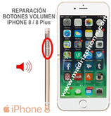 Reparar / Cambiar Botones Volumen  iPHONE 8 / 8 Plus