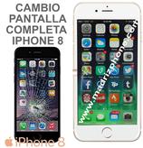 Cambiar Pantalla Completa Compatible iPHONE 8 Blanco/Negro ORIGINAL