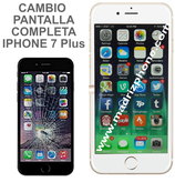 Cambiar Pantalla Completa Compatible iPHONE 7 Plus Blanco/Negro
