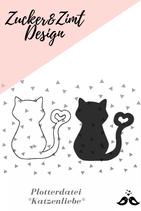 Plotterdatei -Katzenliebe