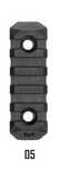 M-Lok5 / 5 Slot Multi Direktional Mountig Picatinny Rail