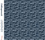 "Blue denim ""Lieblingsmensch"" Outdoor Membran Softshell Meterware"