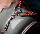 bracelet ethnique en pierre rouge d'Afrique
