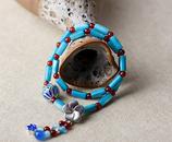 bijoux ethnique bleu shell
