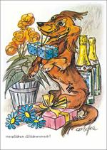 """Postkarte """"Herzlichen Glückwunsch!"""""""