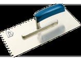 Glättkelle Metall rostfrei 280x130mm gezahnt
