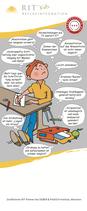 Comic-Aufsteller mit Symptomen zu Lern- und Verhaltensproblemen