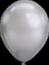 Chrome Silber - Metallic-Latexballon rund