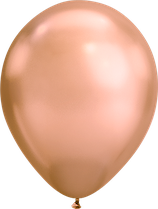 Chrome Rosegold - Metallic-Latexballon rund