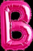 Buchstabe B Folienballon XXL pink