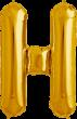 Buchstabe H Folienballon gold