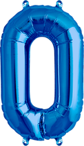 Zahl 0 Folienballon XXL blau