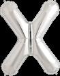 Buchstabe X Folienballon silber