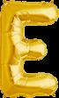 Buchstabe E Folienballon gold