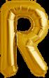 Buchstabe R Folienballon gold
