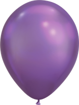 Chrome Purple - Metallic-Latexballon rund