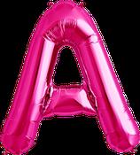 Buchstabe A Folienballon XXL pink
