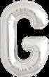 Buchstabe G Folienballon XXL silber
