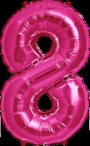 Zahl 8 Folienballon XXL pink