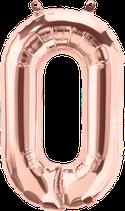 Buchstabe O Folienballon rosegold
