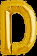 Buchstabe D Folienballon gold