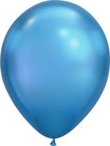 Chrome Blue - Metallic-Latexballon rund