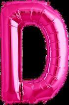 Buchstabe D Folienballon XXL pink