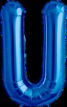 Buchstabe U Folienballon blau