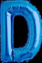 Buchstabe D Folienballon blau