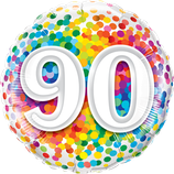 Ballon Geburtstag: 90 Rainbow Confetti