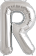 Buchstabe R Folienballon silber