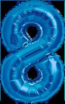 Zahl 8 Folienballon XXL blau