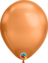 Chrome Copper - Metallic-Latexballon rund