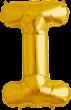 Buchstabe I Folienballon gold