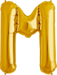Buchstabe M Folienballon gold